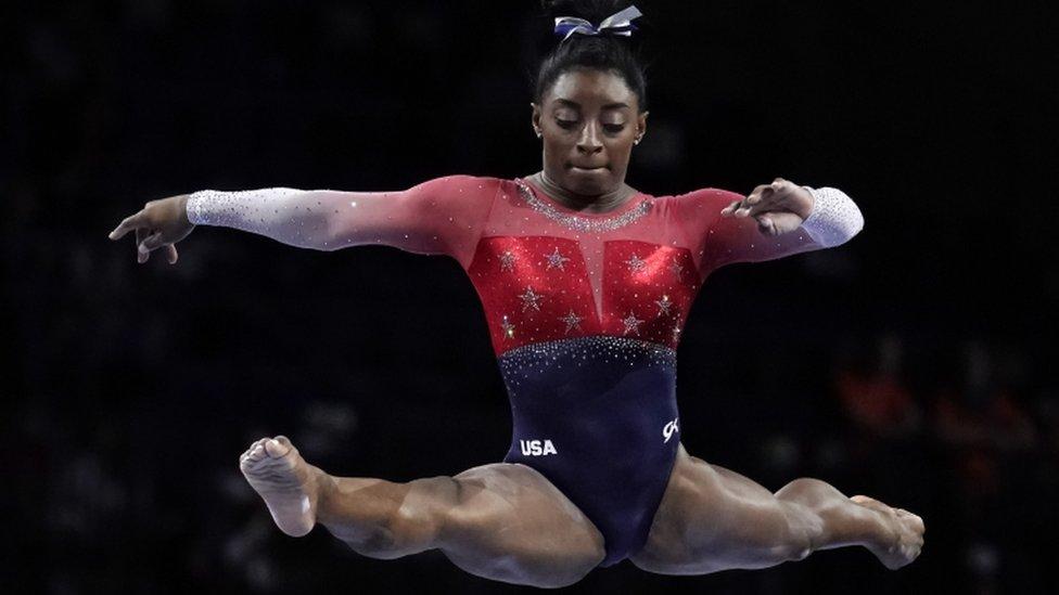 Simone Biles en el Mundial de Gimnasia.