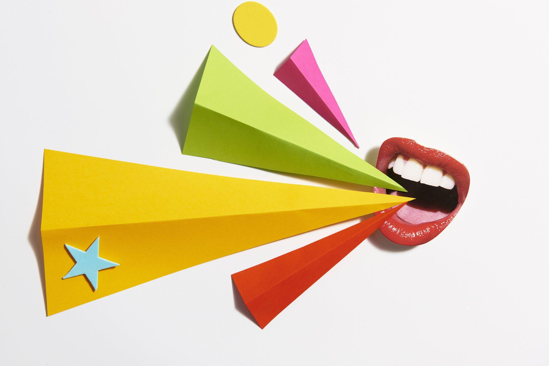 Ilustración de una boca gritando