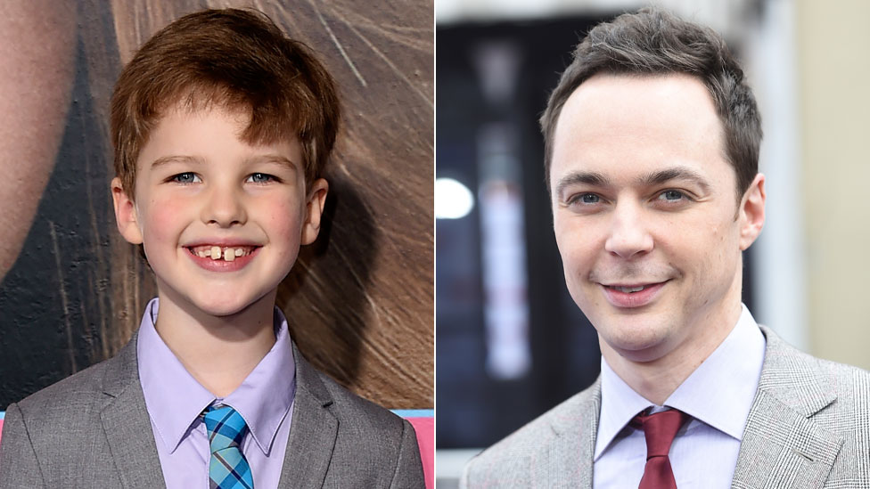 Iain Armitage and Jim Parsons