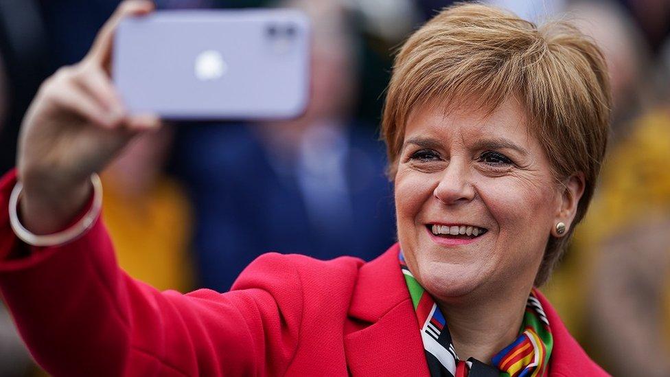 Sturgeon selfie