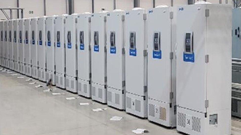 Freezers ultrafrios no Reino Unido