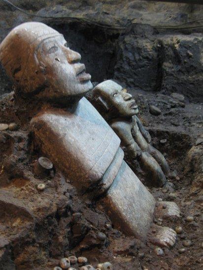 Figuras encontradas en la representación del inframundo.