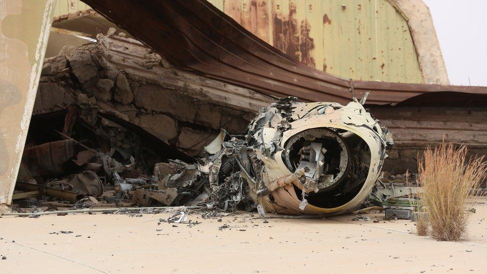 قاعدة الوطية في ليبيا صورة أرشيفية
