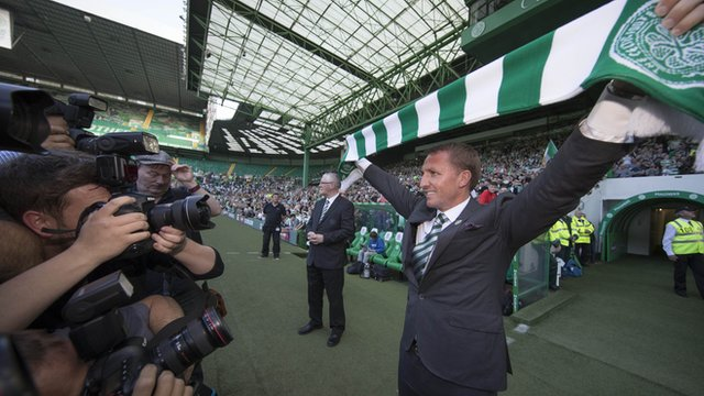 The focus was on Brendan Rodgers at Celtic Park