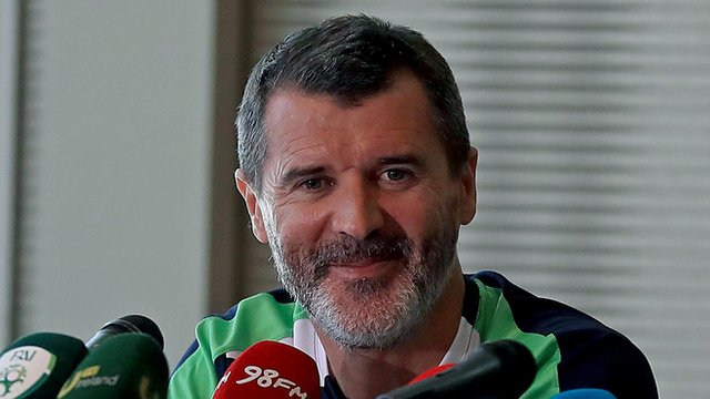 Roy Keane was in good mood at Saturday's press conference in Versailles
