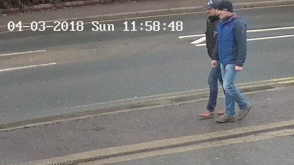 The Skripal suspects' walk through Salisbury