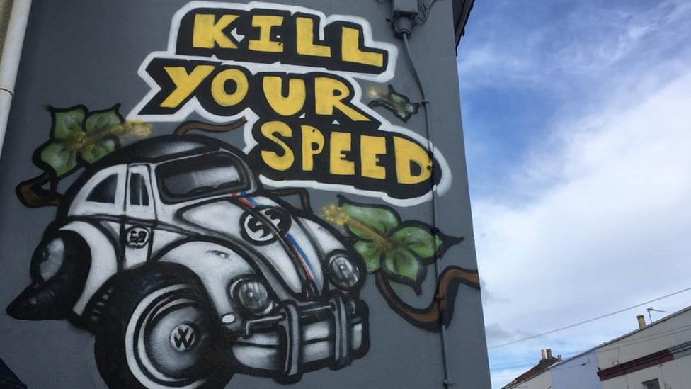 Kill your speed mural
