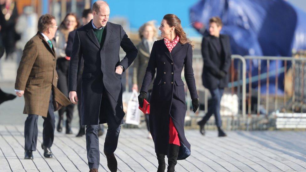 Duke and Duchess of Cambridge in Mumbles