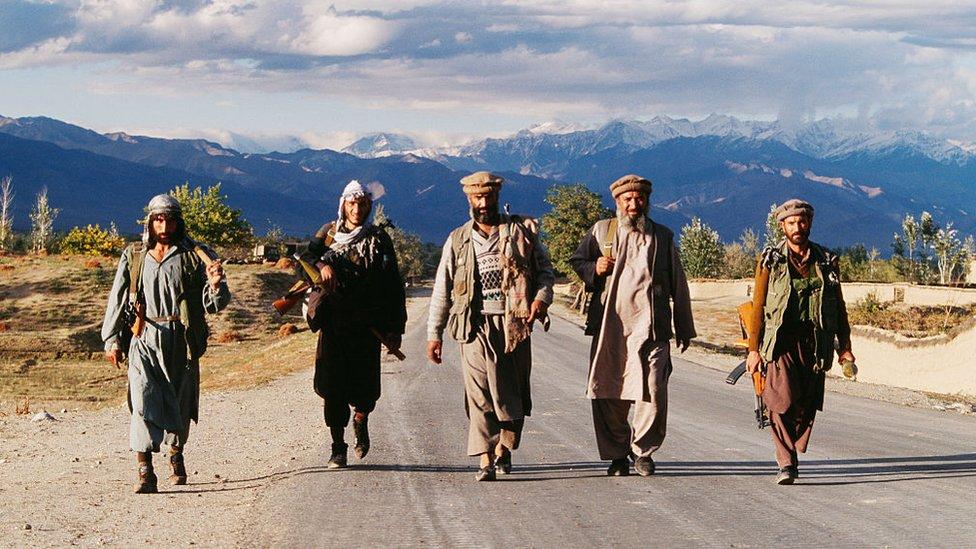 Mujahideen troops of Ahmad Shah Massoud in the 1990s