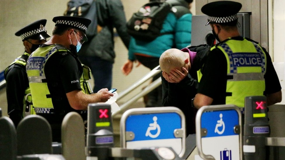 Passenger not happy about being fined