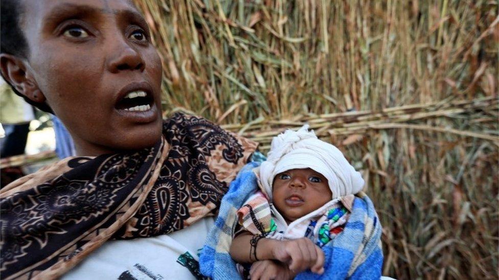 لاجئة إثيوبية