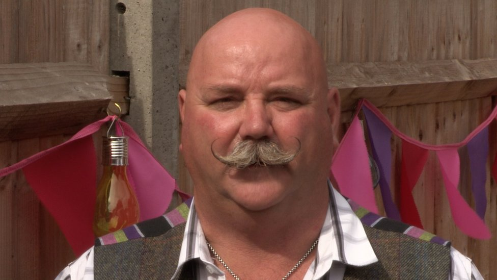 Mark East: The man with Britain's best moustache