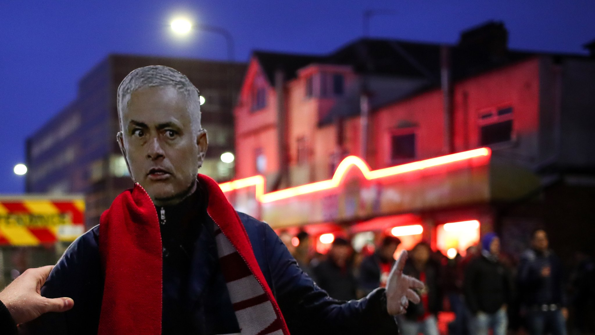 Mourinho walks to Old Trafford as Man Utd bus delayed again