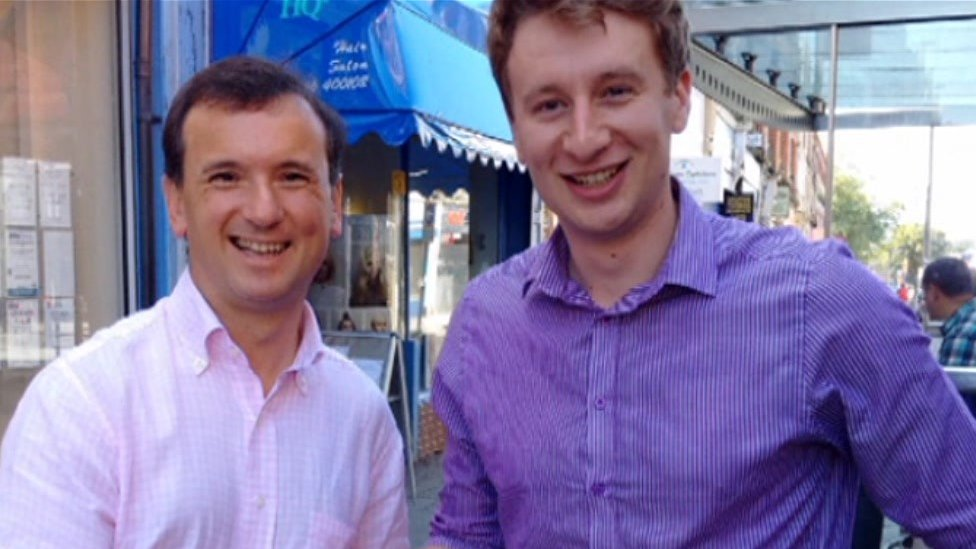Alun Cairns (L) and Ross England (R)