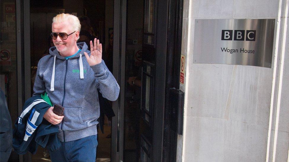 Chris Evans leaving the BBC Radio 2 studios on 3 September 2018
