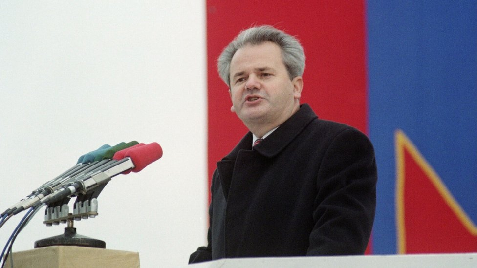 Serb nationalist Slobodan Milosevic