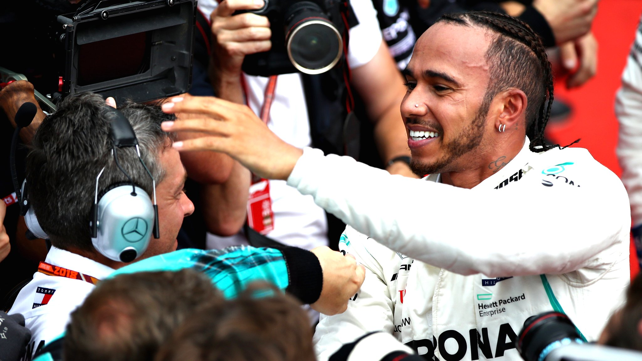 German Grand Prix: Lewis Hamilton wins after Sebastian Vettel crashes out