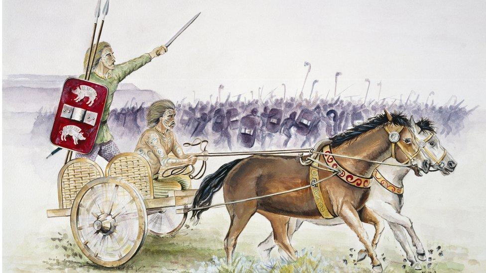 Artist's impression of a Celtic war chariot