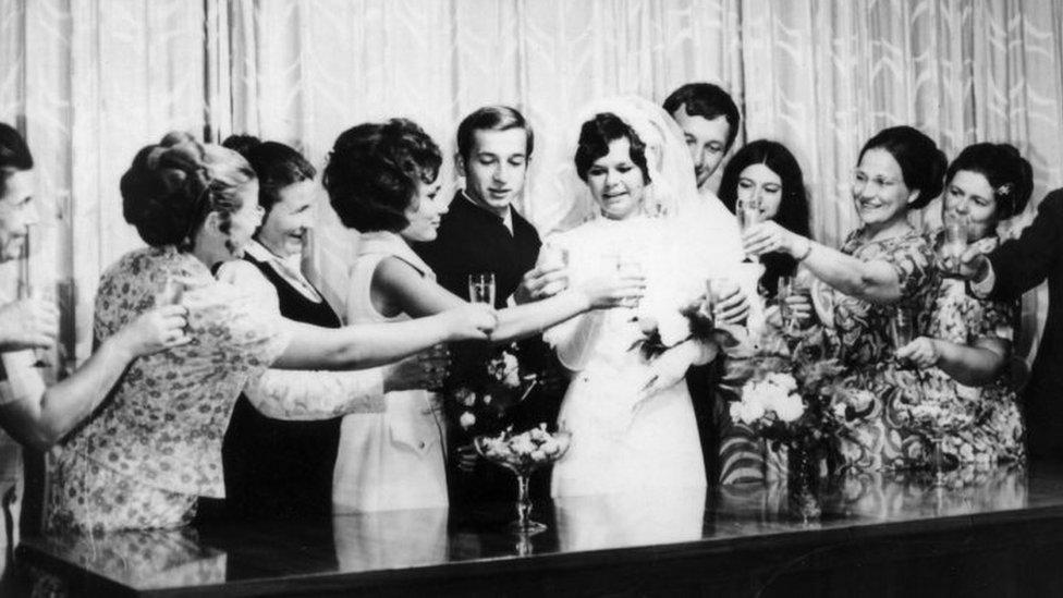 Sergei Skripal and Liudmila on their wedding day