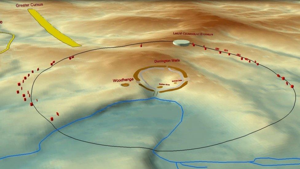 Lokasi lubang di dekat Stonehenge