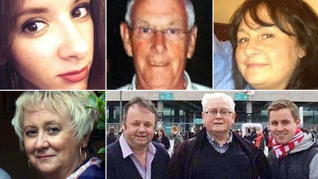Victims of the Tunisia beach attack