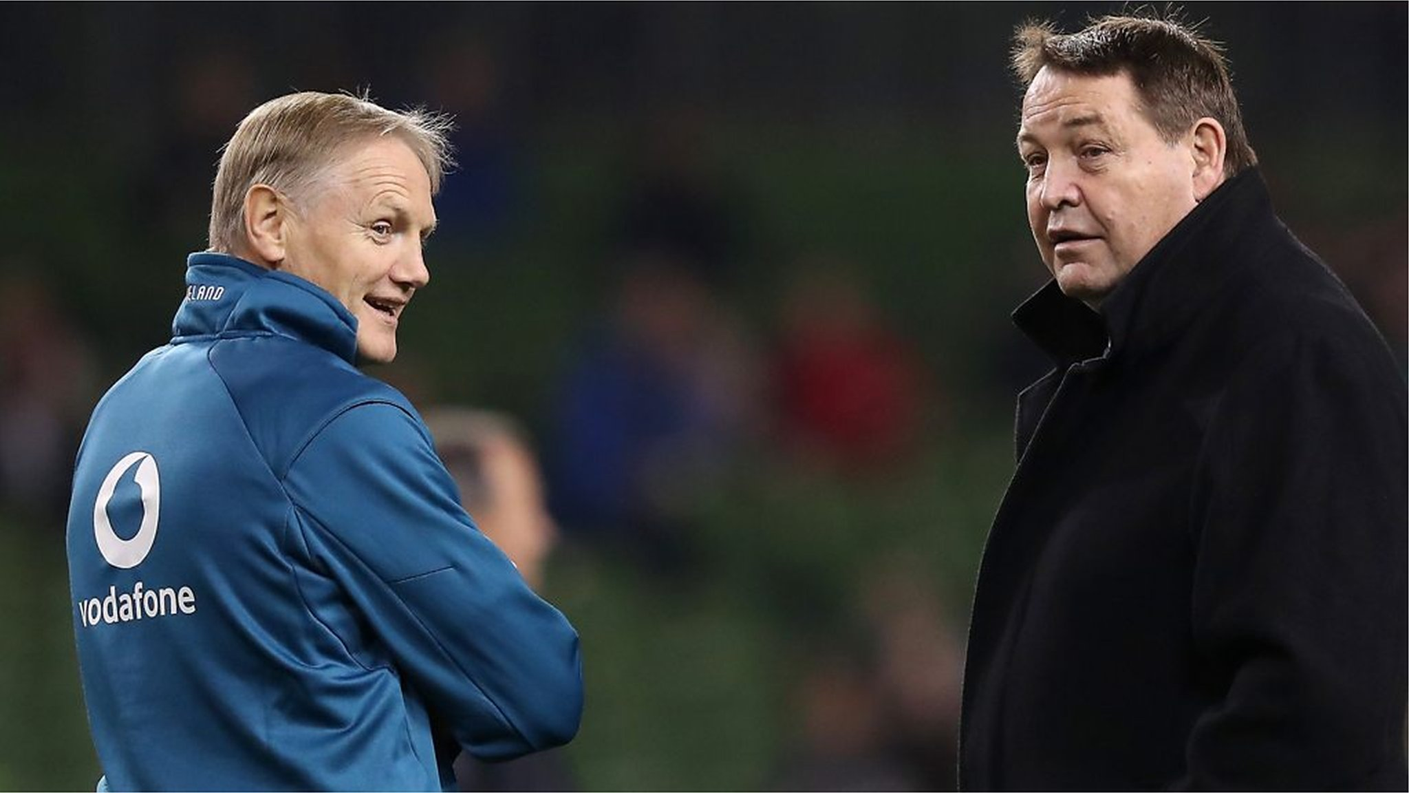 World Cup favourites? Who? Us? Joe Schmidt laughs off Steve Hansen's 'banter'