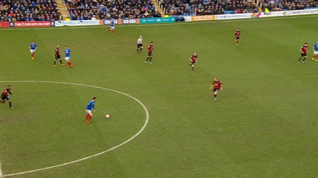 Portsmouth build-up to their goal against Bournemouth