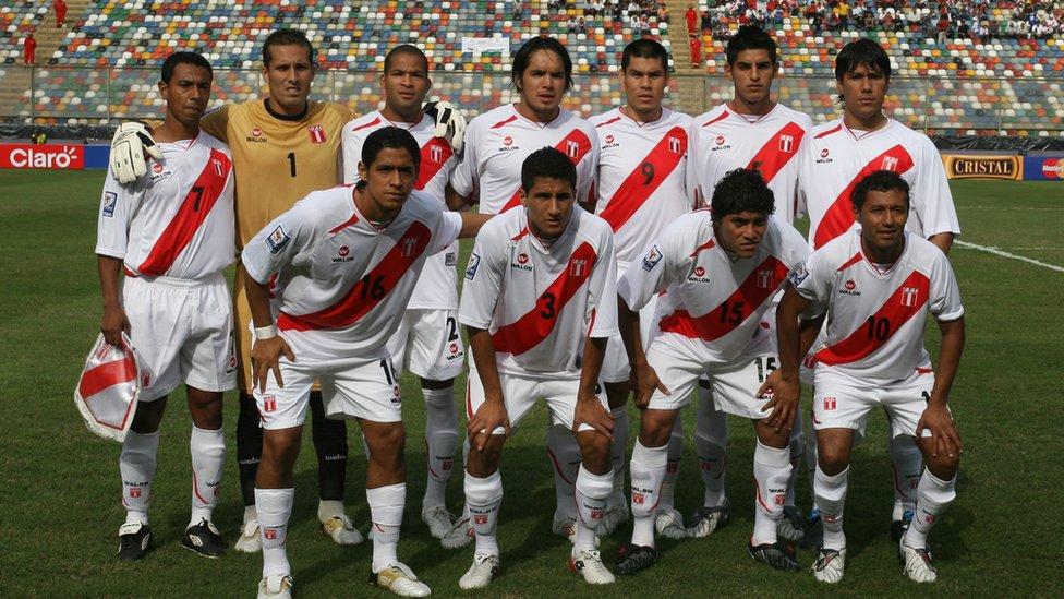 Selección peruana el 5 de septiembre de 2009.