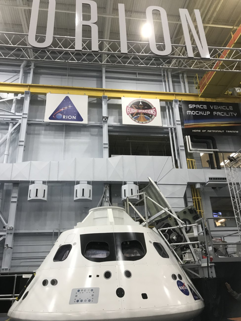 A mockup of Orion, which may one day take humans to Mars