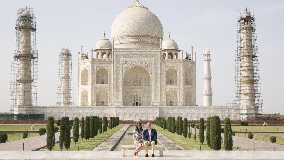 William and Kate at Taj Mahal