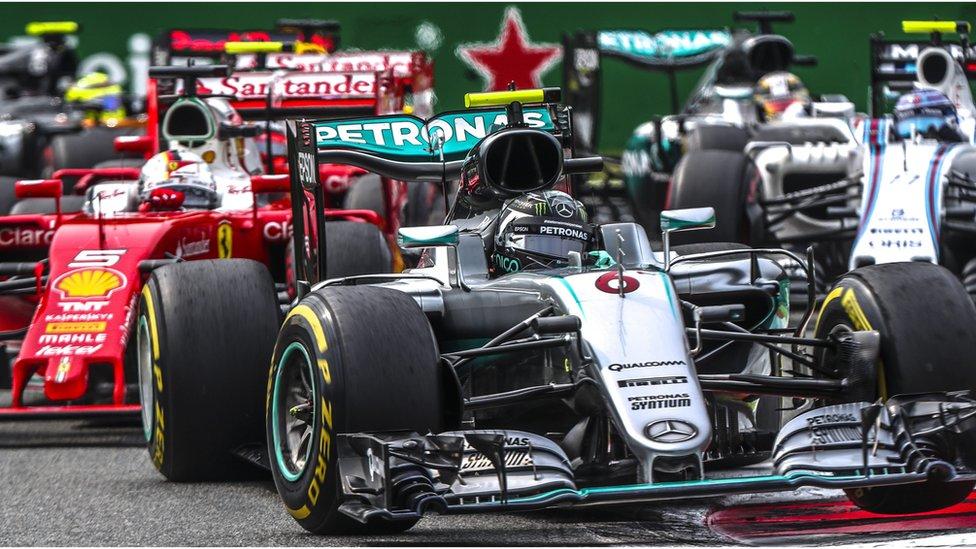 Formula One cars at Italian Grand Prix