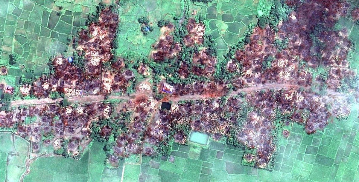 Imágenes satelitales de pueblos rohingya