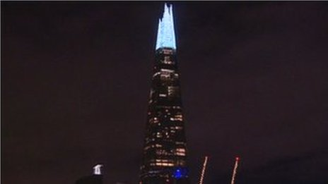 London's Shard gets some festive sparkle