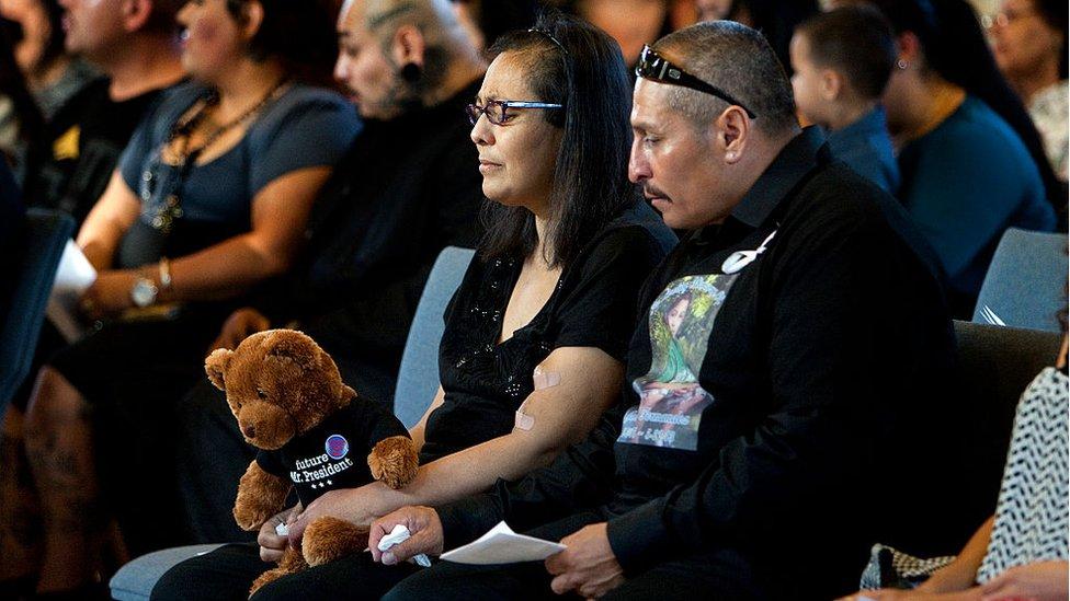 Abuelos de Gabriel Fernandez durante su funeral