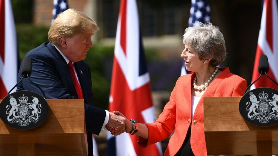 US President Donald Trump and UK Prime Minister Theresa May