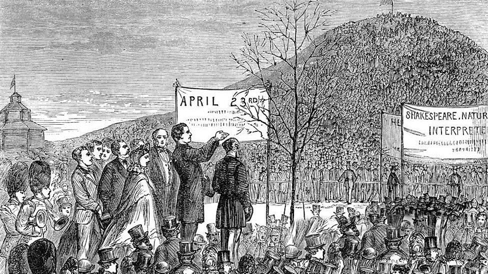 print of tree-planting ceremony