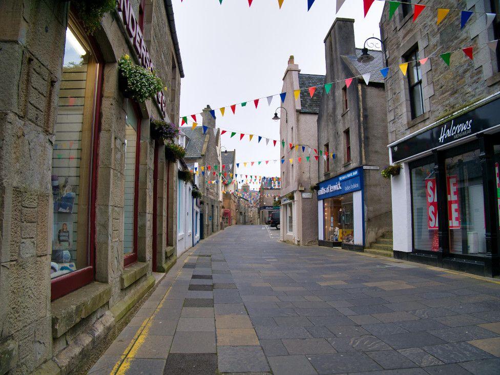Street in Lerwick, Shetland