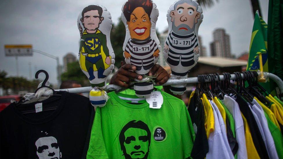 Camiseta de Bolsonaro.