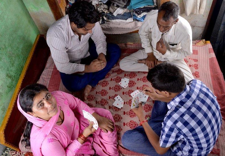 Familia india.