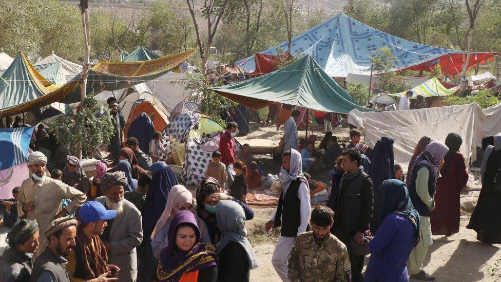 Desplazados por el conflicto en Afganistán.