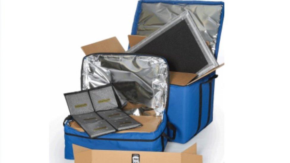 Polar Thermals shipping bag