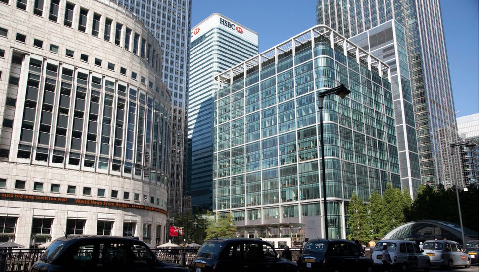 HSBC's global headquarters in London's Canary Wharf