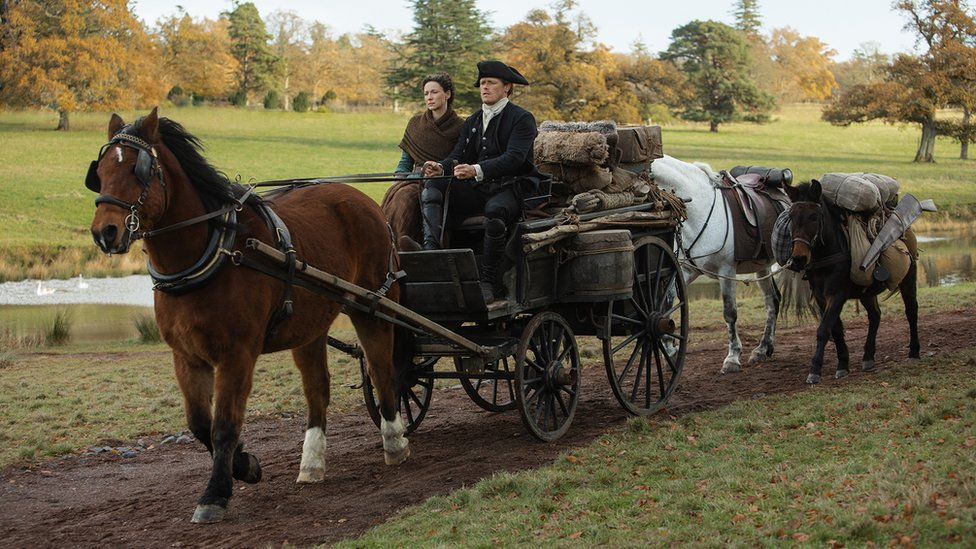 All of the forthcoming season of Outlander was filmed in Scotland