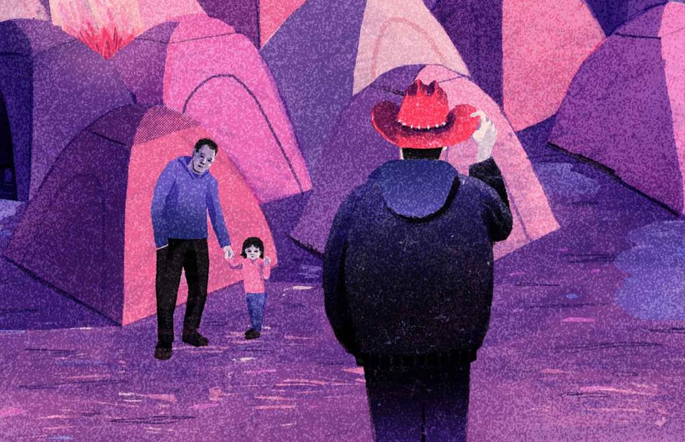 Illustration of Calais camp