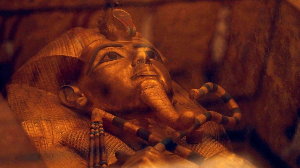 El sarcófago del faraón Tutankamón