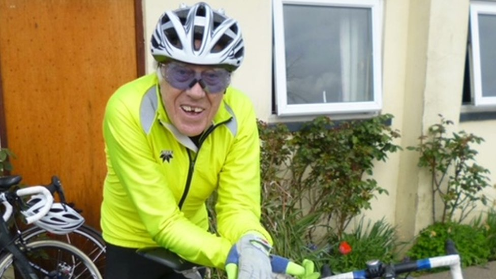 Cyclist Leonard Finch 86, died after 'medical episode'