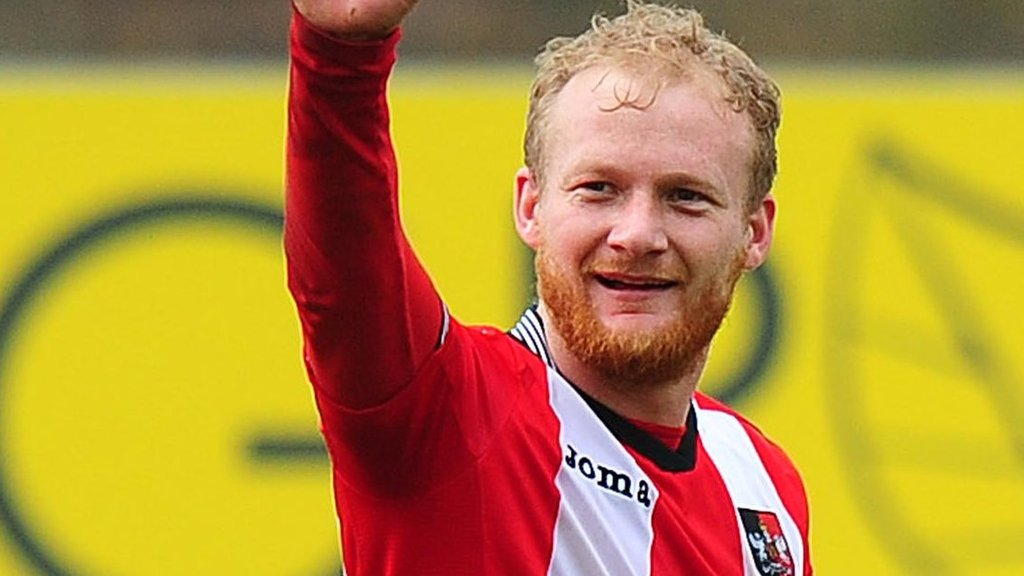 Robbie Simpson: Exeter City player on helping people find post-sport careers