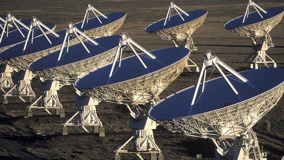Veintisiete antenas móviles cerca Socorro, Nuevo México.