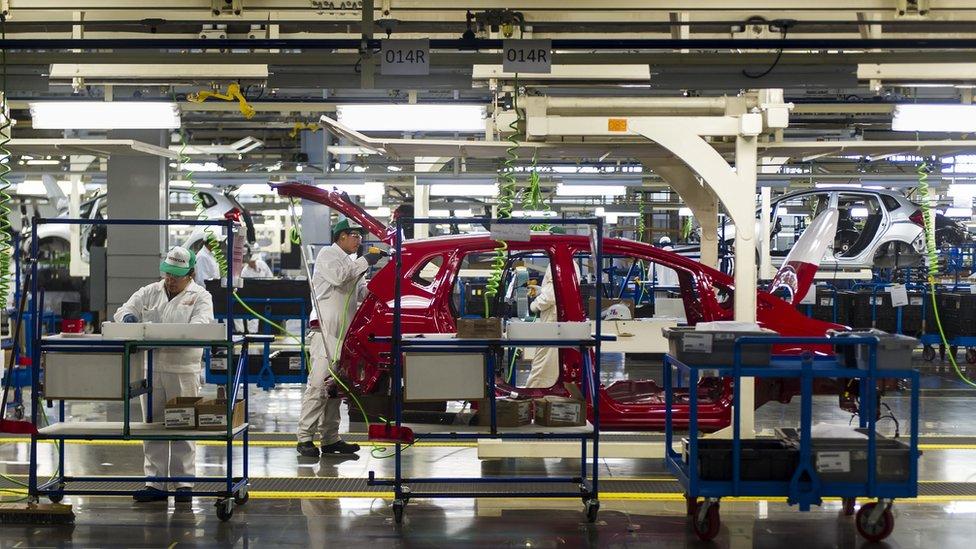 Planta de producción de automóviles en México