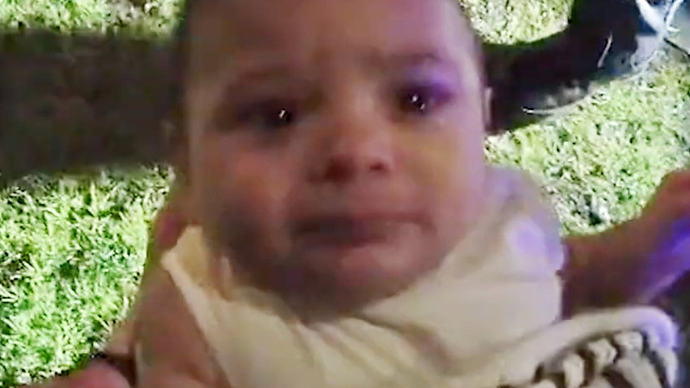 Moment kidnapped Birmingham baby is rescued by police